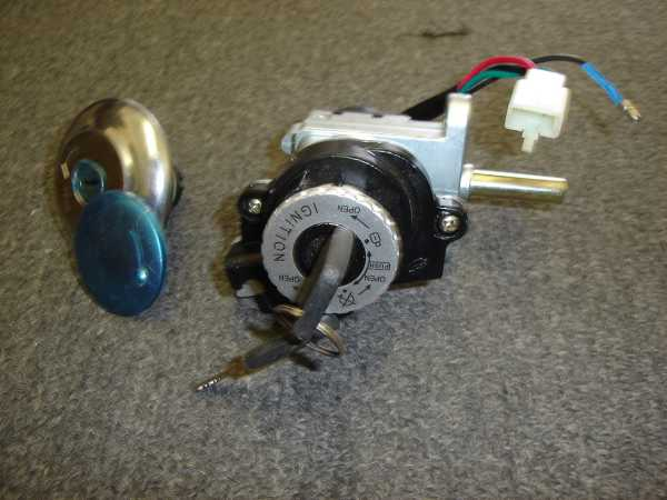 Ignition Set for Large Retro Scooter with Locking Gas Cap-184