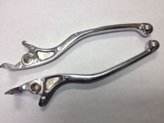 Left and Right Chrome Disc Brake Levers-2730