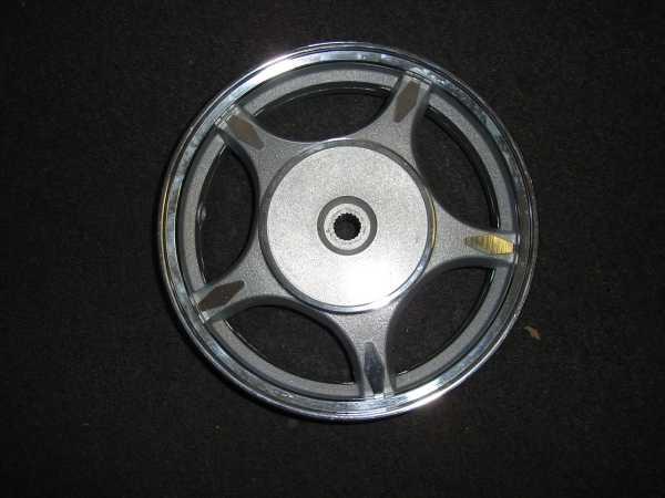 Rear Alloy Wheel, Drum Brake, Large Retro Scooter-774