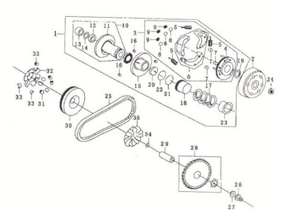 water cooled carburetor 250cc gy6 engine diagram gy6