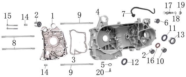 150cc engine diagram wiring diagram u2022 rh tinyforge co gy6 150cc engine diagram roketa 150cc engine diagram